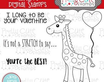 Giraffe DIGITAL Stamp Set