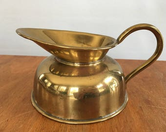 Vintage Small Pitcher or Creamer Brass Color