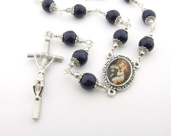 Catholic Rosary Beads - Saint Joseph Single Decade Unbreakable Catholic Rosary Chaplet Tenner - One Decade Pocket Rosary - Catholic Gift
