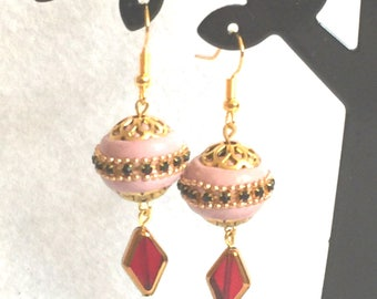 "Earrings ""Moroccan style - pink"""