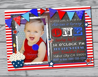 4th Of July Birthday Party Invitation Fourth Supplies Favors