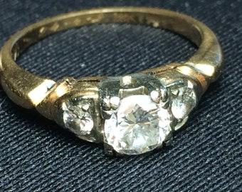1940s 18K/14K Diamond Engagement Ring (ceritified)