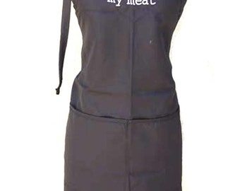 I hand rub my meat  (Adult Apron) In various colors
