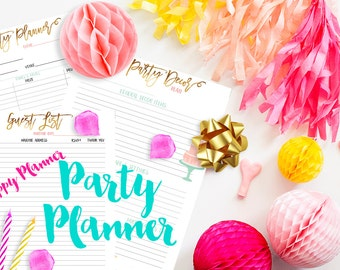 Happy Planner Party Planner Printable Inserts PDF Instant Download
