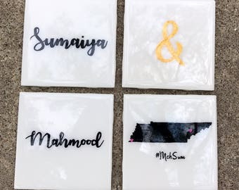 Engagement coasters