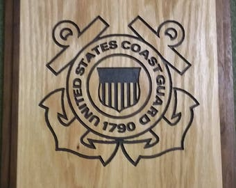 Custom Wood US Coast Guard Plaque
