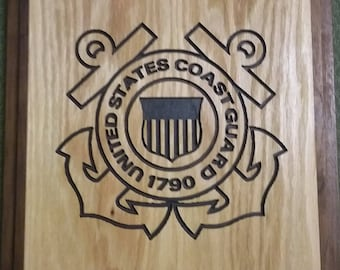 Custom Wood US Coast Guard Plaque