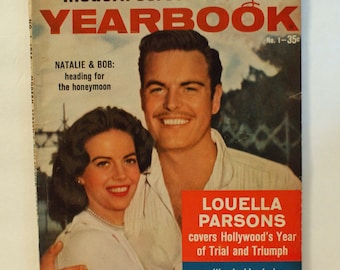 Modern Screen Hollywood Yearkbook 1958 First Issue Natalie Wood Bob Wagner Honeymoon Vintage
