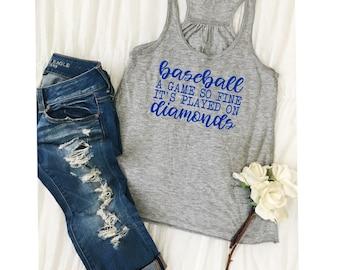 Baseball Mom Shirt/Women's Baseball Shirt/Baseball Mom/Baseball A Game So Fine It's Played on Diamonds