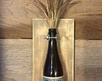 Rustic Man cave/ Bar Decorative Beer Bottle wall vase