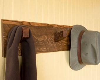 Rustic coat and hat rack, pallet coat rack, reclaimed wood coat rack, rustic hall organizer, pallet clothes rack, pallet hooks, rustic hooks