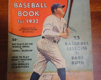 Babe Ruth's Baseball Book for 1932
