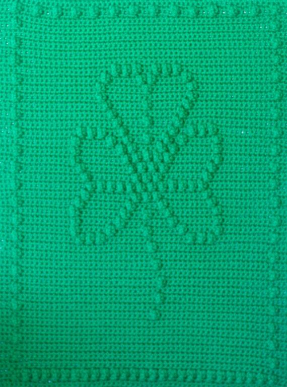 Shamrock Crochet Baby Blanket Pattern - Baby Blanket Pattern - Blanket Pattern