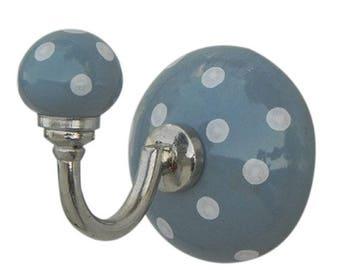 Ceramic wall hook - dream hooks grey