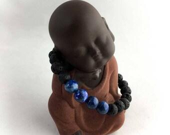 Angel KISS Lapis Lazuli Oils Diffuser Lava Energy bracelet