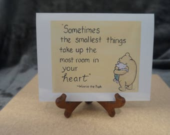 baby expecting cards classic pooh quote small things quote i love you baby shower baby decor new mom to be Winnie the Pooh