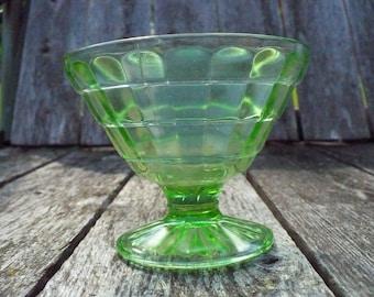 Small Green pressed glass bowl