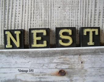 Vintage Anagram Letters NEST