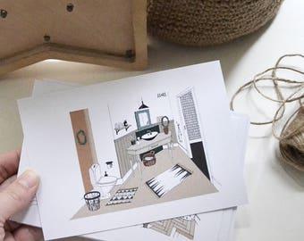 Interior design card Etsy