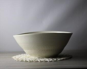 Asymmetrical White Porcelain Bowl