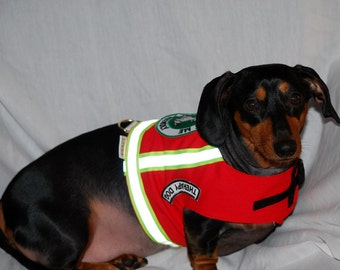 Special listing for Lisa Red Therapy Dog Vest Ask To Pet Me I'm Friendly  Reflective Tape and Snap Lock custom sizes