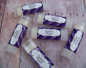 WILD GRAPE Lip Butter, chapstick, Natural Lip Balm, Organic Lip Balm, Flavored Lip Balm, Spa Party, Luxury Lip Balm, bridesmaids gift, favor