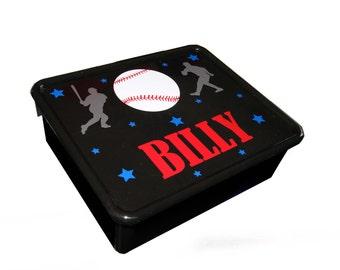 Personalized Double Storage Bin - Baseball