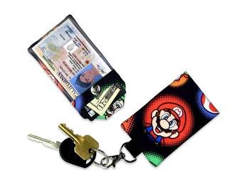 Nintendo Super Mario ID Wallet, Mini Wallet, Lanyard ID Holder, Luggage Tag, Vacation ID Wallet