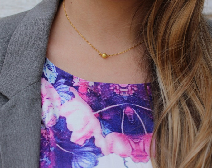 Thin Gold Stardust Necklace