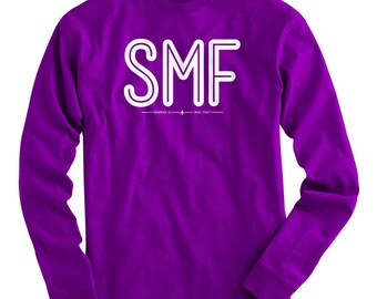 SMF Sacramento Airport Tee - Long Sleeve T-shirt - Men S M L XL 2x 3x 4x - Airport Shirt, Iata Code Shirt, Pilot Shirt, Travel Shirt, Flying