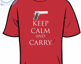 Keep Calm and Carry Tee Shirt