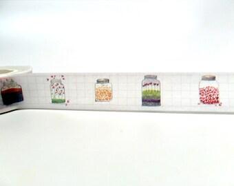 Heart Washi Tape - Mason Jar Washi Tape - Love Washi Tape - Love Stickers - Cute Little Hearts Washi Tape 15mm x 10m