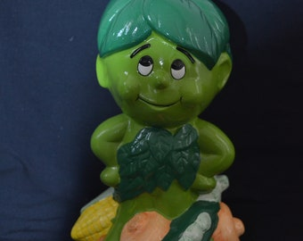 Lil Sprout / Green Giant Musical Coin Bank - Green Giant Advertising Musical Coin Bank
