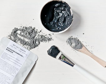 Activated Charcoal + Burdock DIY face mask for oily skin, acne + hormonal breakouts