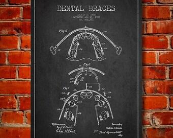 1907 Dental braces Canvas Art Print, Wall Art, Home Decor, Gift Idea