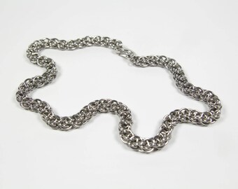 Hawkskaede Necklace, Chainmail Necklace, Stainless Steel, Chainmaille Necklace, Chain Maille, Steel Necklace, Mens Necklace, Mens Jewelry