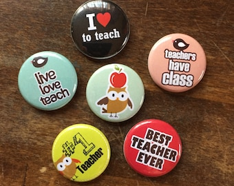 Teachers Rule MAGNETS set of 6