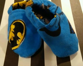 Blue Batman print slippers/shoes/booties