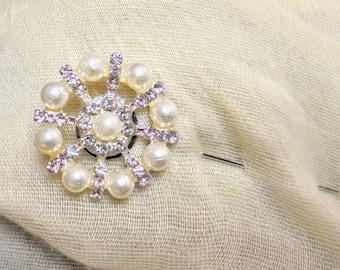 Lapel Pin, Rhinestone lapel pin, hijab pins, stick pins, wedding lapel pin, rhinestone pins, boutonniere, brooch, grooms lapel pin, boutinee