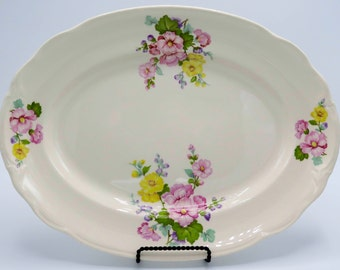 Canonsburg Floral Platter, Serving Platter, Made in USA