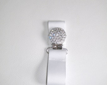 Clear Swarovksi Crystal Pacifier Clip