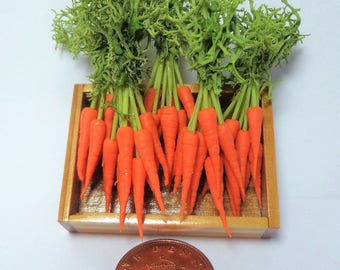 1:12 Dolls House Miniature Tray Of Carrots