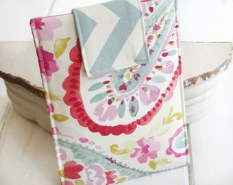 Kindle Sleeve, Kindle case,Chevron and Paisley Kindle Sleeve, Ereader, Nook Sleeve, Nook Case in Raspberry Sorbet - Gadget Cases and Covers