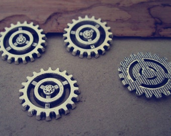 20pcs 18mm  Antique silver gear pendant charm