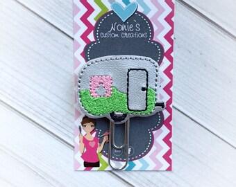 Camper Paper Clip - Planner Paper Clip - Planner Paperclip - Planner Accessories - Planner Feltie - RV Paper Clip - Camper Feltie