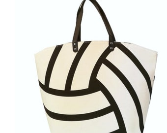 Monogrammed Volleyball  Bag/ Monogram Volleyball Tote Bag/ Monogram Tote Bag