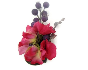 Silk Sweet Pea Buttonhole boutonniere Corsage Free Delivery