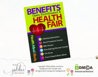 Chalkboard Poster Benefit Fair Poster Health Poster Wellness Poster Wellness Fair Fair Poster Benefit Health Fair Diabetes Poster