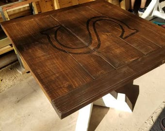 Farmhouse Square Pedestal Table (LOCAL Pickup/DELIVERY ONLY)