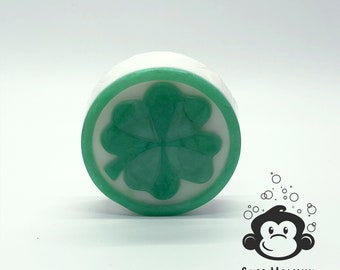 St. Patrick's Day Shamrock Bar Soap  // Irish Rain Scent